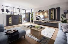 Obývací a jídelní nábytek LAMIA graphite _sestava 10 J4 GH 80 + highboard 22 + konf. stůl 20 J4 GH 02 _obr. 2