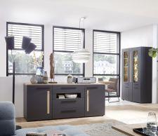 Obývací a jídelní nábytek LAMIA graphite _sideboard 10 J4 GH 20 _obr. 7