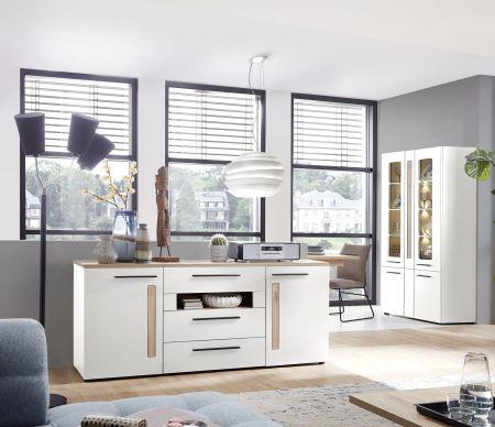 Obývací a jídelní nábytek LAMIA white _ sideboard 10 J4 WH 20 _obr. 6