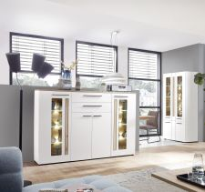 Obývací a jídelní nábytek LAMIA white _ highboard 10 J4 WH 22 _obr. 7