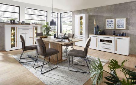 Obývací a jídelní nábytek LAMIA white _ jídelna 3 _obr. 13