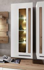 Obývací a jídelní nábytek LAMIA white _ detail závěsné vitriny _obr. 18