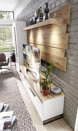 Obývací a jídelní nábytek LAMIA white _ detail závěsného panelu _obr. 19