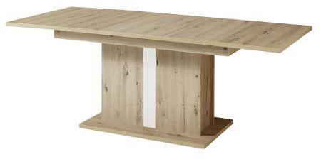 Jídelní stůl LAMIA 20 J4 WH 01_ šikmý pohled_ rozložený_ obr. 49