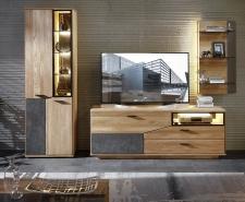Obývací a jídelní nábytek LAUSANNE_sestava 45 65 HH 91_čelní pohled_obr. 5