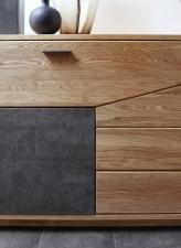 Obývací a jídelní nábytek LAUSANNE_detail předních ploch_obr. 11