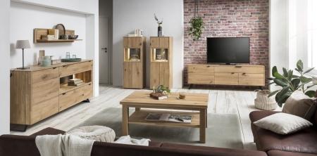 Obývací a jídelní nábytek LISBOA_dubový masiv_volná sestava nábytku_obr. 1