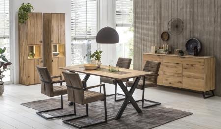 Obývací a jídelní nábytek LISBOA_dubový masiv_volná sestava nábytku_jídelna_obr. 2