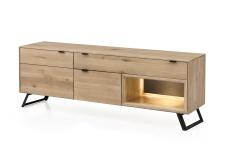 Lowboard (TV stůl) LISBOA 22_volitelné LED osvětlení a granitová záda_obr. 12