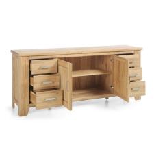 Masivní nábytek LOFT_sideboard typ 33_šikmý pohled_otevřený