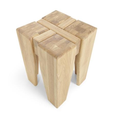 Masivní nábytek LOFT_taburet-stolička typ 57_horní pohled