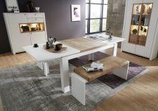 Obývací a jídelní nábytek NIZZA _jídelní stůl 20 G8 WF 01 rozložený + 2x lavice 20 G8 WF 03 _ obr. 11