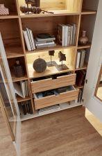 Obývací a jídelní nábytek NIZZA _detail otevřené vitriny 03_ obr. 17