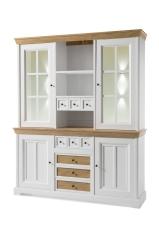 Obývací a jídelní nábytek PALLADIUM_příborník široký s vitrinou (buffet) 40 11 05_volitelné LED osvětlení_obr. 6