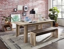 Jídelní stůl RIVER 20 H2 RR 01_rozložený na 200 cm_+ 2x lavice 03_obr. 08