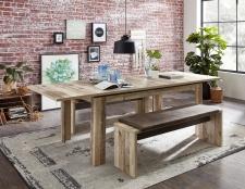 Jídelní stůl RIVER 20 H2 RR 01_rozložený na 240 cm_+ 2x lavice 03_obr. 09