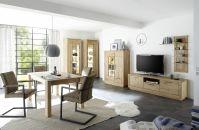 Obývací / jídelní nabytek VALLETTA_100% dubový masiv_LED osvětlení jako volitelné příslušenství_obr. 1
