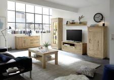 Obývací / jídelní nabytek VALLETTA_100% dubový masiv_LED osvětlení jako volitelné příslušenství_obr. 3