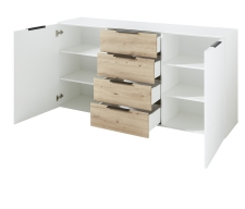 Sideboard MOONLIGHT 10 H9 WH 20_šikmý pohled_otevřený_obr. 28