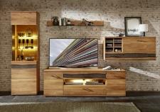 Obývací nábytek CROWN_sestava 45 18 HH 81_čelní pohled_včetně volitelného LED osvětlení_obr. 2