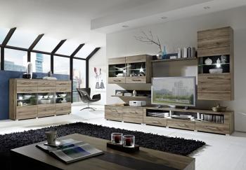 Obývací sestava + highboard + konferenční stůl DEAL