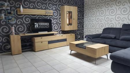 Obývací stěna AUCKLAND s LED osvětlením_dubový masív_obr. 1