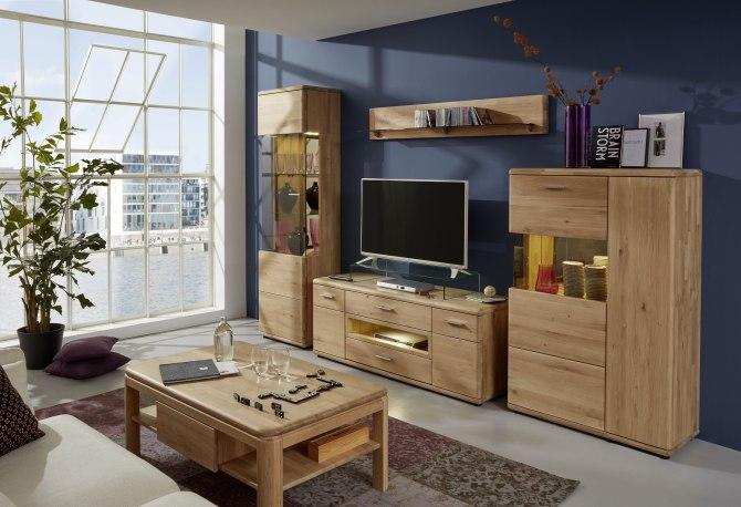 Obývací sestava + konferenční stůl SAVOY - 100% dubový masív