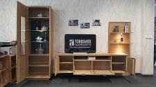 Obývací sestava MIRONE 1831-985-92 + LED osvětlení_otevřená_foto prodejna_obr. 2