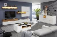 Obývací sestava ENRICO 1805-975-07 + sideboard 876 + konf. stůl 110_volitelné LED osvětlení_obr. 1