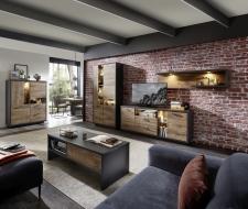 Obývací nábytek LEEDS _sestava 40 A0 GV 85 + highboard 22 + konferenční stůl CT 20 A0 GV 02_ volitelné LED osvětlení_ obr. 7