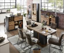 Obývací nábytek LEEDS _využití v jídelně_obr. 10
