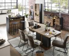 Obývací nábytek LEEDS _využití v jídelně _varianta _obr. 11