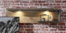 Obývací nábytek LEEDS _závěsný policový panel 43_volitelné LED osvětlení _obr. 19