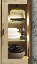 Obývací nábytek MERCURY II._ detail vitriny s bočním prosklením_ obr. 9