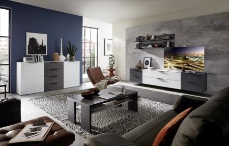 Obývací sestava MOONLIGHT 10 H9 WG 85 + sideboard 20 + konferenční stůl 20 H9 WG 02_variantní umístění TV_obr. 8
