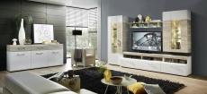 Obývací stěna SAVONA 1K 99 WH 80 + sideboard 20_ obr. 1