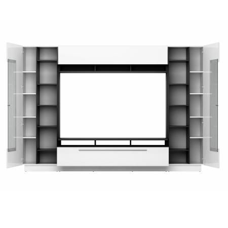 Obývací stěna DALTON_detail vnitřního policového uspořádání_obr. 4