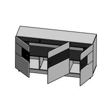 Sideboard DALTON_otevřený_schematický obrázek_obr. 12