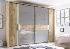 Ložnicový nábytek PALERMO_šatní skříň s posuvnými a klasickými dveřmi_obr. 2