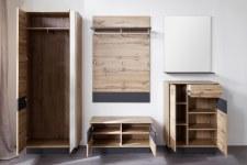 Předsíňový nábytek LOOK_sestava 1747-913-83_čelní pohled_otevřená_obr. 3