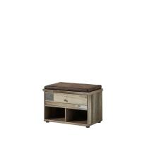 Předsíňový nábytek PROVENCE_lavice typ 60_šikmý pohled_obr. 30