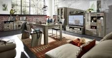 Obývací stěna PROVENCE 10 D0 DD 80 + sideboard 20 + jídelní stůl + 2x jídelní lavice_obr. 1