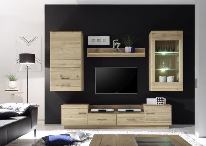 QUBO - celomasivní obývací stěna
