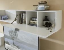Obývací nábytek QUICK_detail sklopných dvířek s kováním Regumat_obr. 23