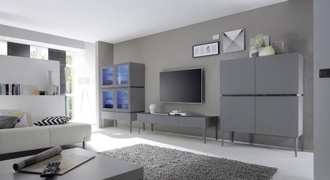 Obývací a jídelní sestavy REX anthrazit