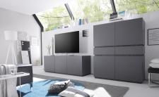 Obývací / jídelní nábytek REX_anthrazit-wenge_volná sestava elementů_obývací pokoj_obr. 4