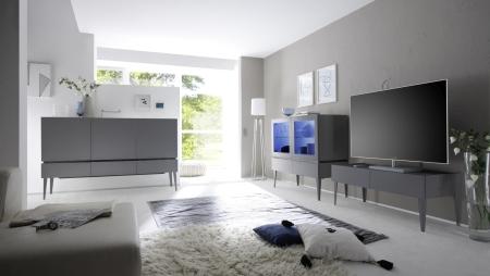 Obývací / jídelní nábytek REX_anthrazit-wenge_volná sestava elementů_obývací pokoj_obr. 5