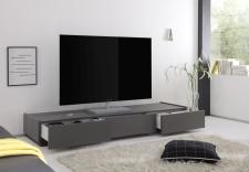 TV-element REX_(sokl)_anthrazit_3 zásuvky_otevřený