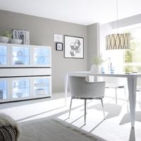 Obývací a jídelní sestavy REX white