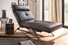 Relaxační lehátko RIMOLA s motorovým polohováním_v kůži Torero nero_obr. 2